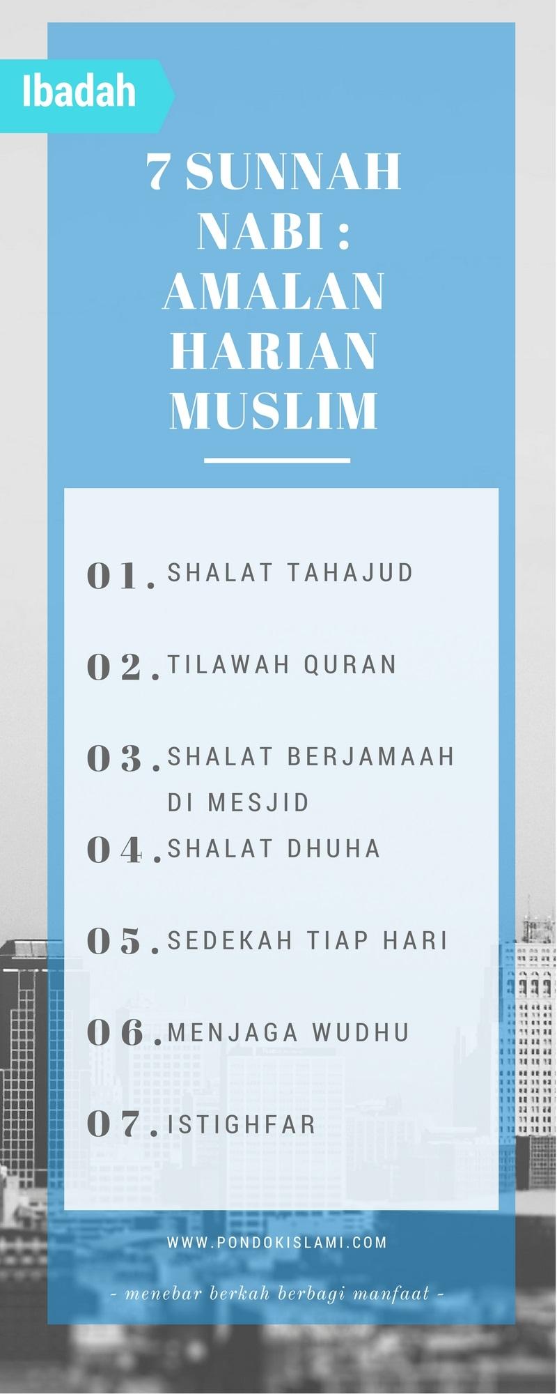 7 sunnah nabi muhammad sebagai amalan harian muslim