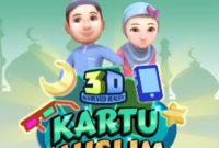 kartu muslim 3d AR