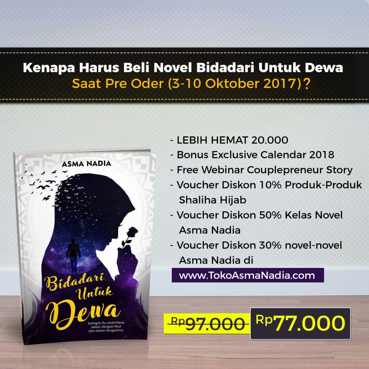 benefit-pre-order-novel-bidadari-untuk-dewa