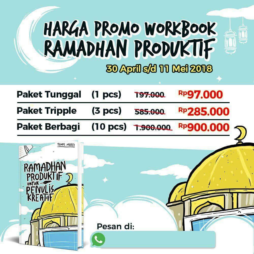 Harga Promo Workbook Ramadhan Produktif