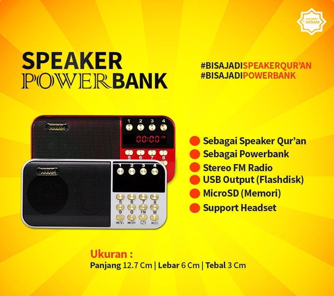 warna-speaker-quran-al-akram-powerbank