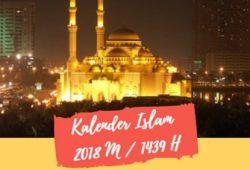 Kalender Islam 2018 – 1439 Hijriyah Lengkap (Download Gratis)